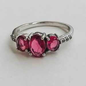 Jewelry - Pink topaz sterling ring